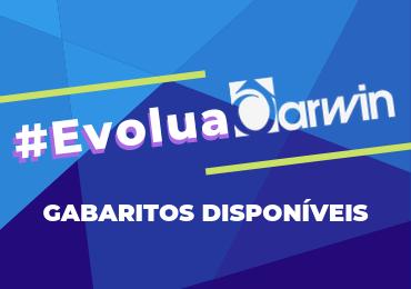 Veja aqui os gabaritos do #EvoluaDarwin