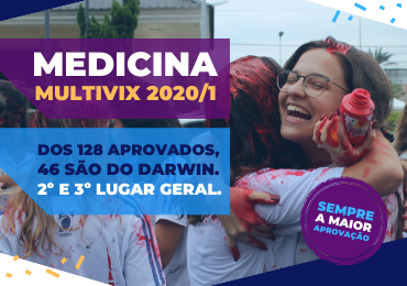 Darwin tem 46 aprovados em Medicina no Vest-Multivix 2020/1