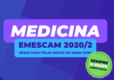 Emescam Medicina 2020/2: 1º e 2º Lugar Geral são do Darwin