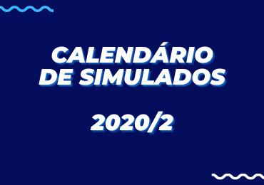Acesse o Calendário de Simulados 2020/2 e organize-se!