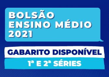 Confira o gabarito do Bolsão 2021 para 1ª e 2ª séries