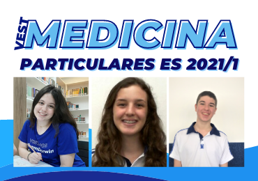 Medicina Particulares ES 2021/1: alunos Darwin conquistam os 3 primeiros lugares